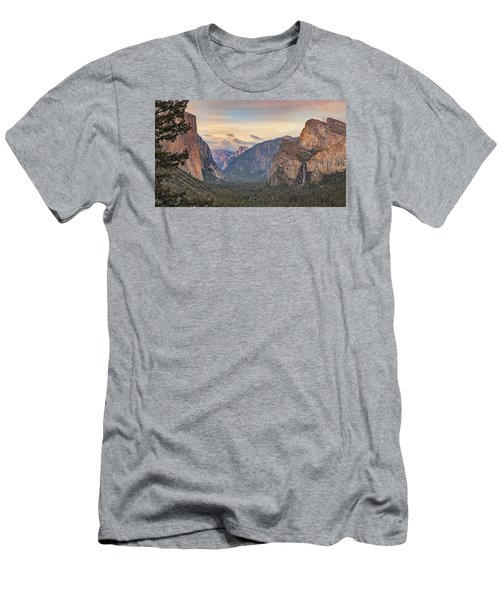 Yosemite Sunset Men's T-Shirt (Slim Fit) by Harold Rau
