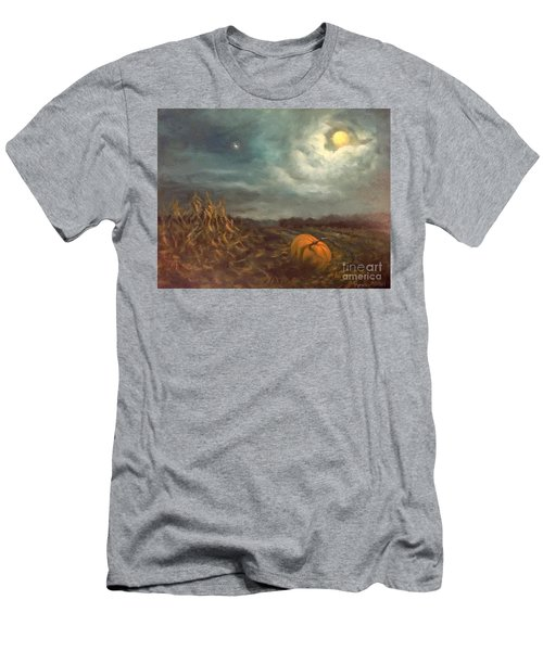 Halloween Mystery Under A Star And The Moon Men's T-Shirt (Slim Fit) by Randy Burns