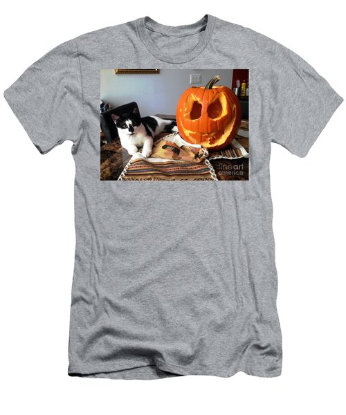Halloween Men's T-Shirt (Slim Fit) by Vicky Tarcau