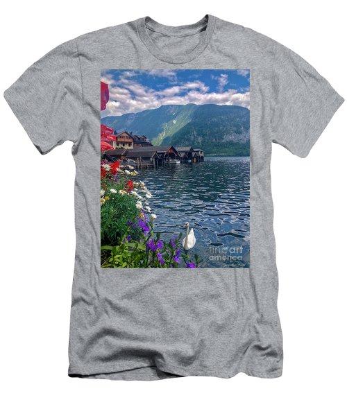 Hallstatt Swan Men's T-Shirt (Athletic Fit)