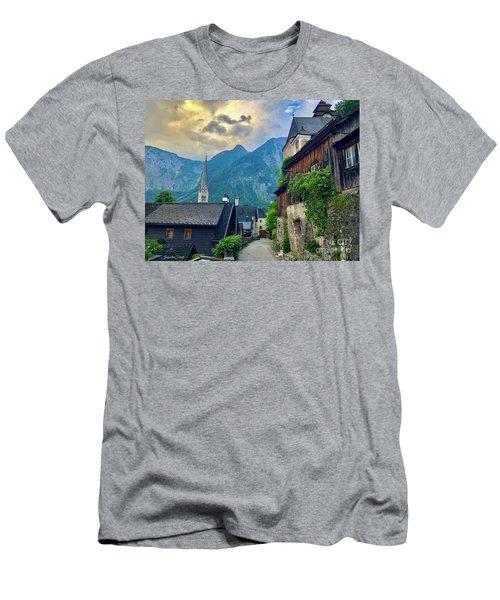 Hallstatt Village Stroll Men's T-Shirt (Athletic Fit)