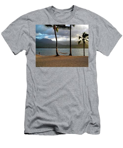 Hammock At Hanalei Bay Men's T-Shirt (Athletic Fit)