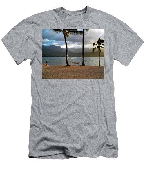 Hammock At Hanalei Bay Men's T-Shirt (Athletic Fit)