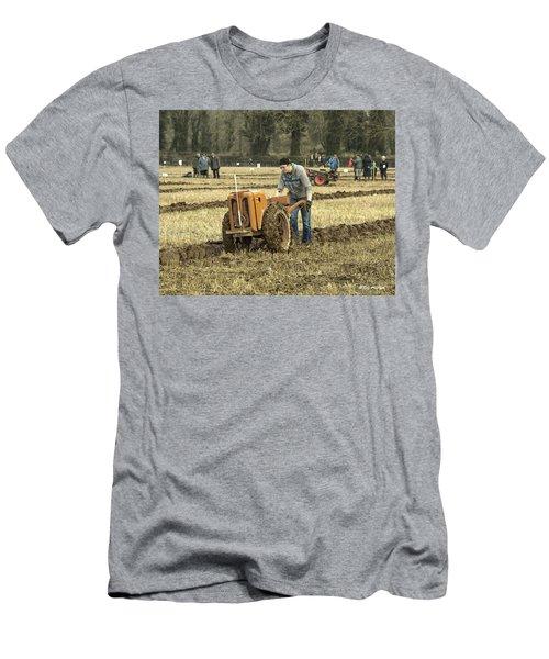 Hand Held Tractor Plough Men's T-Shirt (Slim Fit) by Roy McPeak
