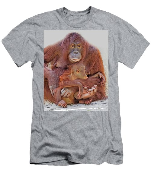 Men's T-Shirt (Athletic Fit) featuring the digital art Hands And Feet by Larry Linton