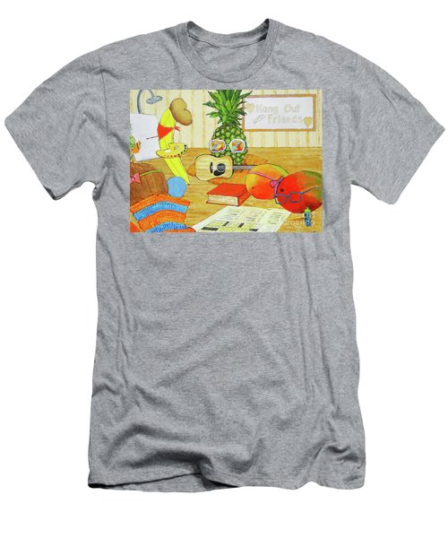 Hang Out With Friends Men's T-Shirt (Athletic Fit)