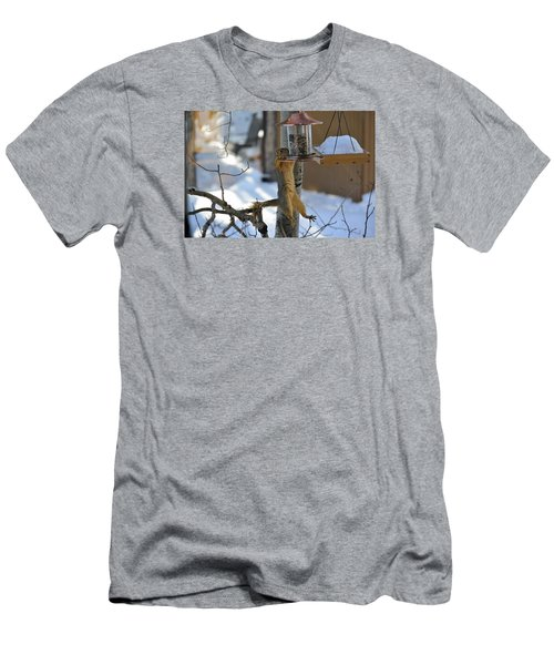 Hanging Squirrel Men's T-Shirt (Athletic Fit)