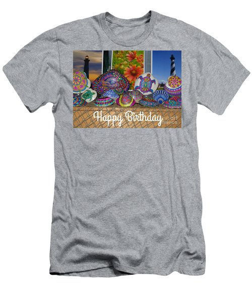 Happy Birthday Shells Men's T-Shirt (Athletic Fit)
