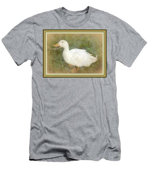 Happy Duck Portrait Men's T-Shirt (Slim Fit) by Jodie Marie Anne Richardson Traugott          aka jm-ART