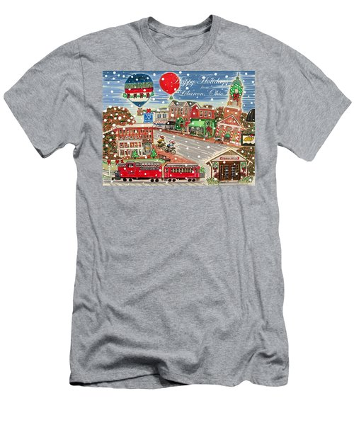 Happy Holidays From Lebanon, Ohio Men's T-Shirt (Athletic Fit)