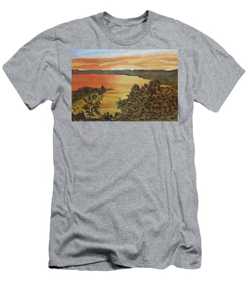 Men's T-Shirt (Athletic Fit) featuring the painting Happy Hour by Joel Deutsch