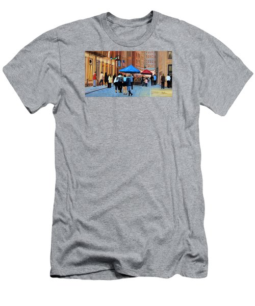 Happy Hour On Stone St. Nyc Men's T-Shirt (Athletic Fit)