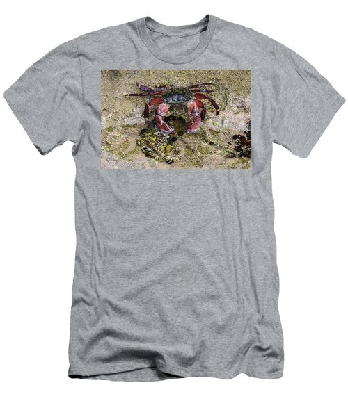 Happy Little Crab Men's T-Shirt (Athletic Fit)