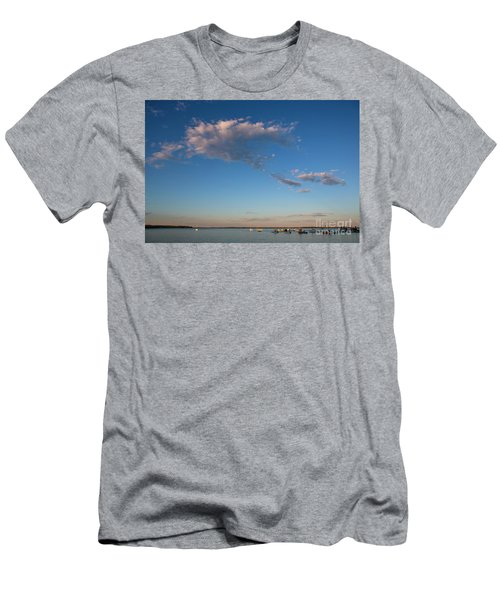 Harbor In Lincolnville,maine Men's T-Shirt (Slim Fit) by Diane Diederich