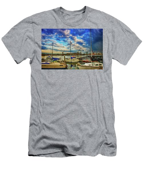 Harbor Scene Men's T-Shirt (Athletic Fit)