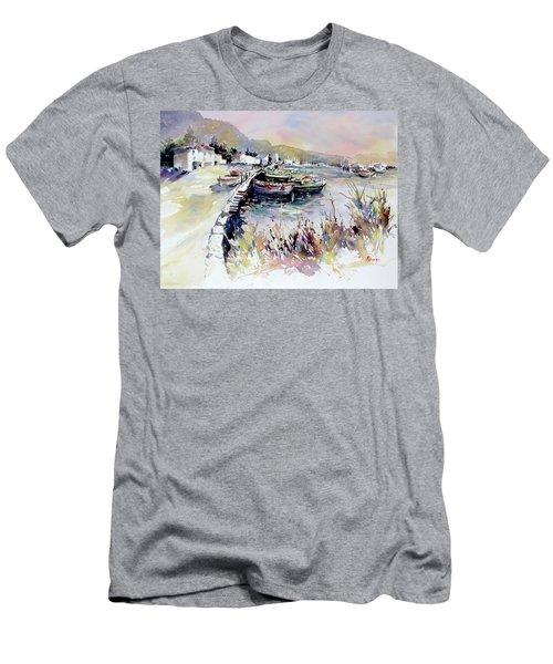 Harbor Shapes Men's T-Shirt (Slim Fit) by Rae Andrews