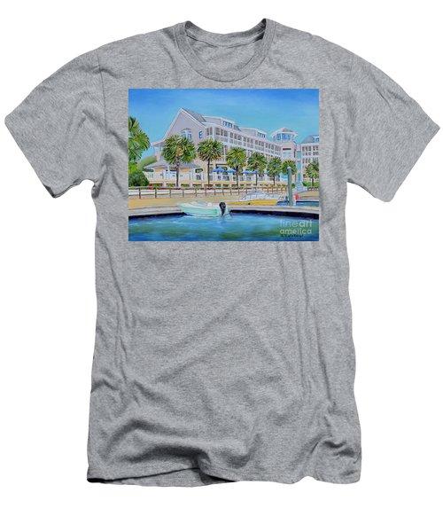 Harborside Marina Men's T-Shirt (Slim Fit) by Shelia Kempf
