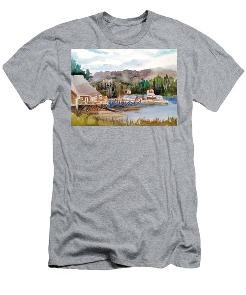 Harbour Scene Men's T-Shirt (Athletic Fit)