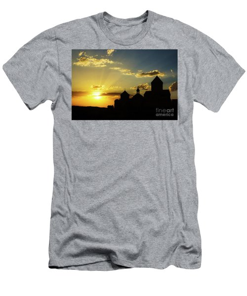 Harichavank Monastery At Sunset, Armenia Men's T-Shirt (Athletic Fit)