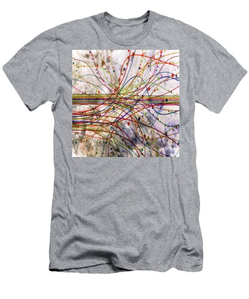 Men's T-Shirt (Slim Fit) featuring the digital art Harnessing Energy 1 by Angelina Vick