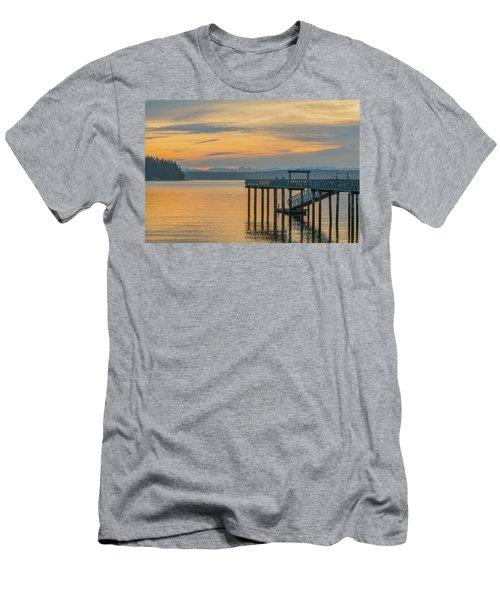 #harper Pier In The Morning Light Men's T-Shirt (Athletic Fit)