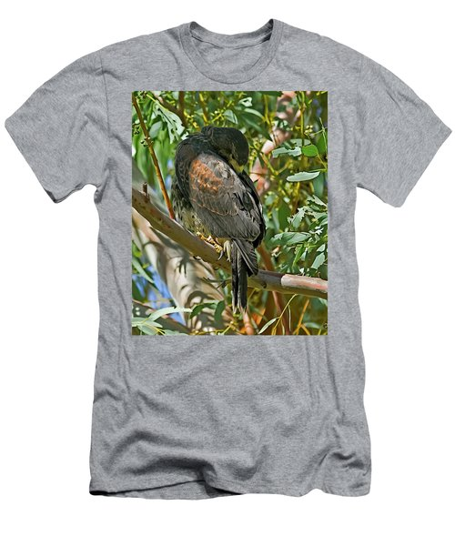 Men's T-Shirt (Athletic Fit) featuring the photograph Harris's Preening V09 by Mark Myhaver