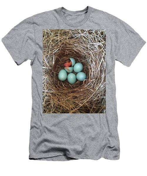Hatched Men's T-Shirt (Athletic Fit)