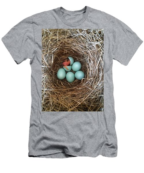 Hatched Men's T-Shirt (Athletic Fit)