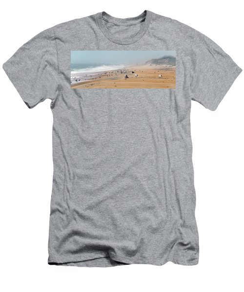 Hatteras Island Beach Men's T-Shirt (Athletic Fit)
