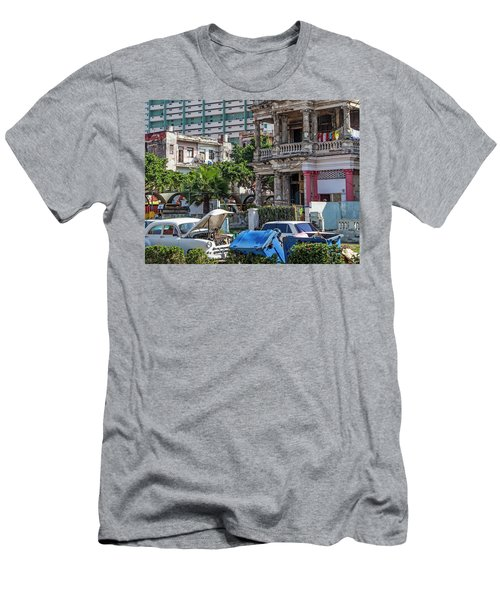 Men's T-Shirt (Athletic Fit) featuring the photograph Havana Cuba by Charles Harden