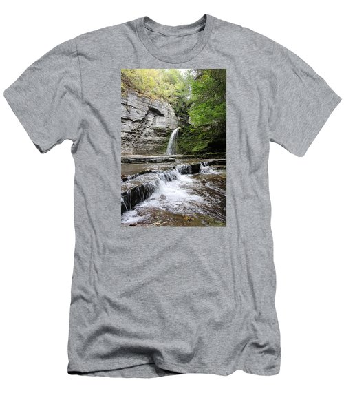 Eagle Cliff Falls II Men's T-Shirt (Slim Fit) by Trina  Ansel