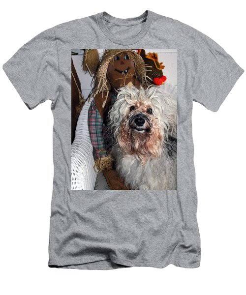 Men's T-Shirt (Slim Fit) featuring the photograph Havanese Cutie by Sally Weigand