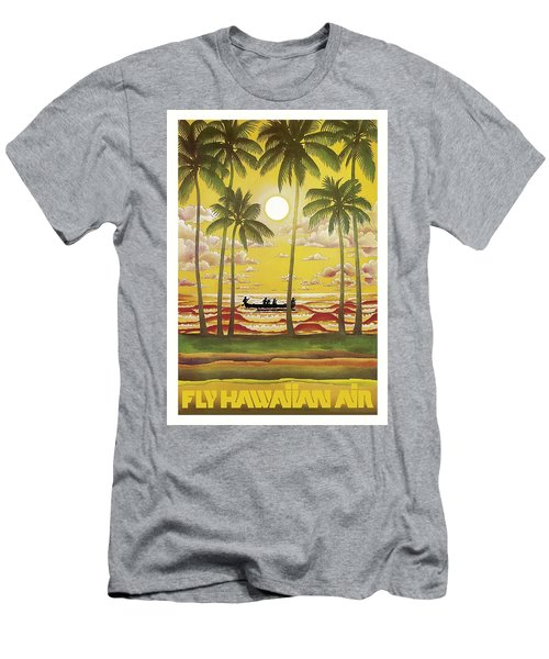 Hawaii Vintage Airline Travel Poster  Men's T-Shirt (Athletic Fit)