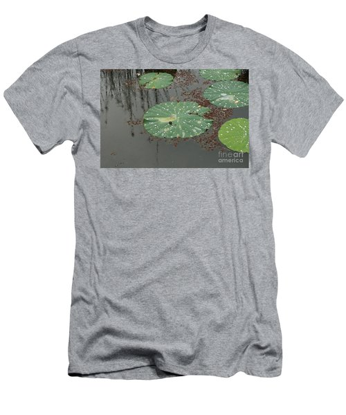 Hawaiian Lilly Pad 1 Men's T-Shirt (Athletic Fit)