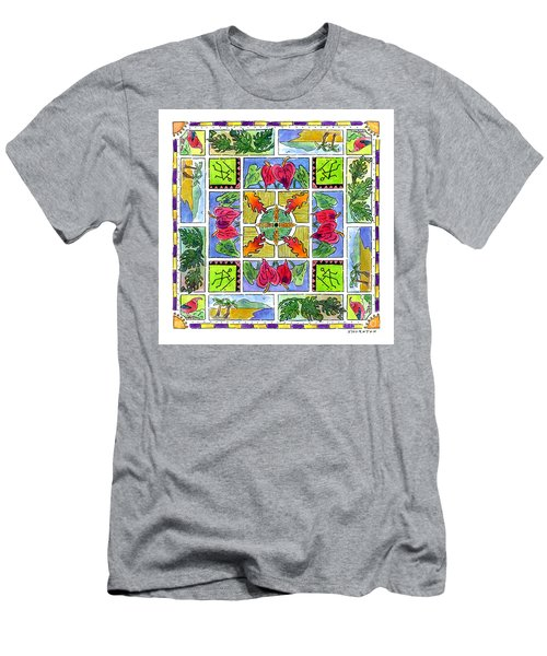 Hawaiian Mandala Iv - Anthuriums Men's T-Shirt (Athletic Fit)