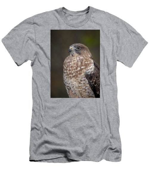 Men's T-Shirt (Slim Fit) featuring the photograph Hawk by Tyson and Kathy Smith
