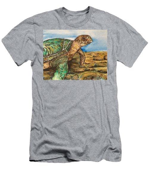 Hawkbilled Sea Turtle Men's T-Shirt (Athletic Fit)