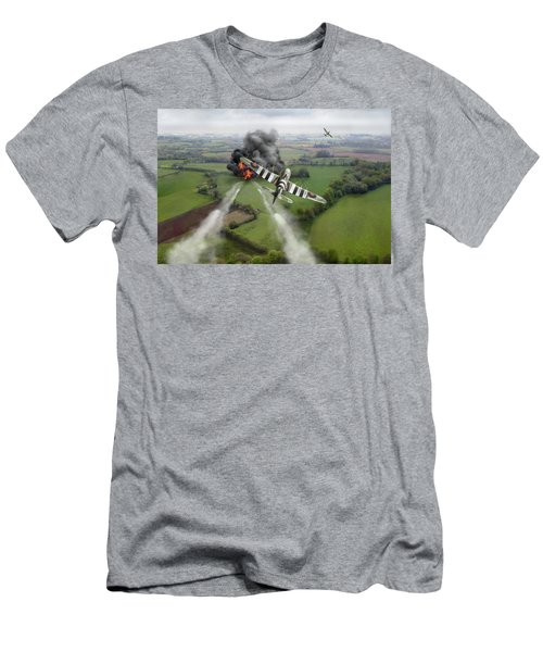 Men's T-Shirt (Athletic Fit) featuring the photograph Hawker Typhoon Rocket Attack by Gary Eason