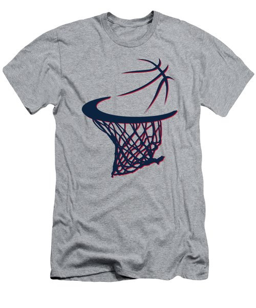 Hawks Basketball Hoop Men's T-Shirt (Slim Fit) by Joe Hamilton
