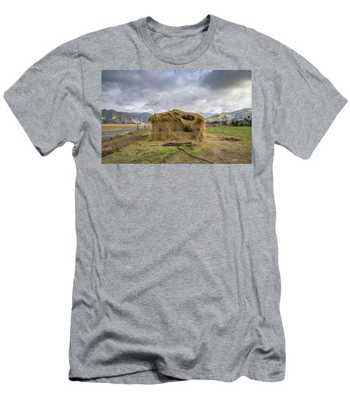 Hay Hut In Andes Men's T-Shirt (Athletic Fit)