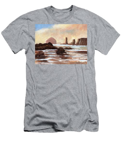 Hay Stack Reef Men's T-Shirt (Slim Fit) by Randy Sprout