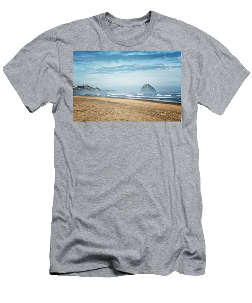 Haystack Rock Pacific City Men's T-Shirt (Athletic Fit)