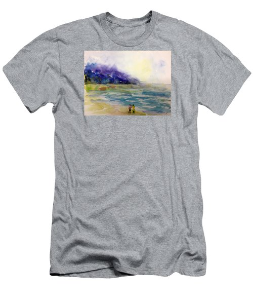 Hazy Beach Scene Men's T-Shirt (Athletic Fit)