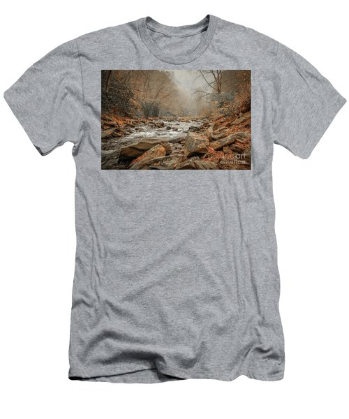 Hazy Mountain Stream #2 Men's T-Shirt (Athletic Fit)