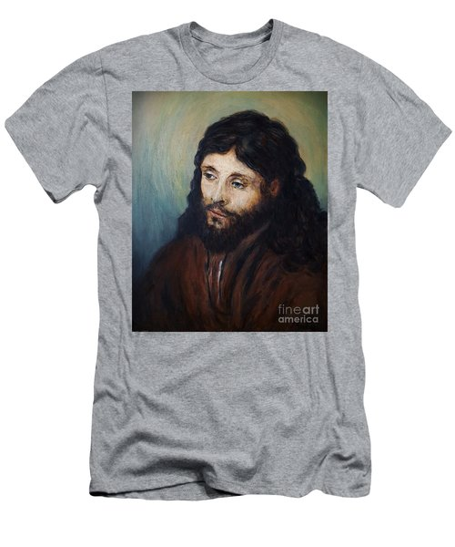 Head Of Christ After Rembrandt Men's T-Shirt (Athletic Fit)