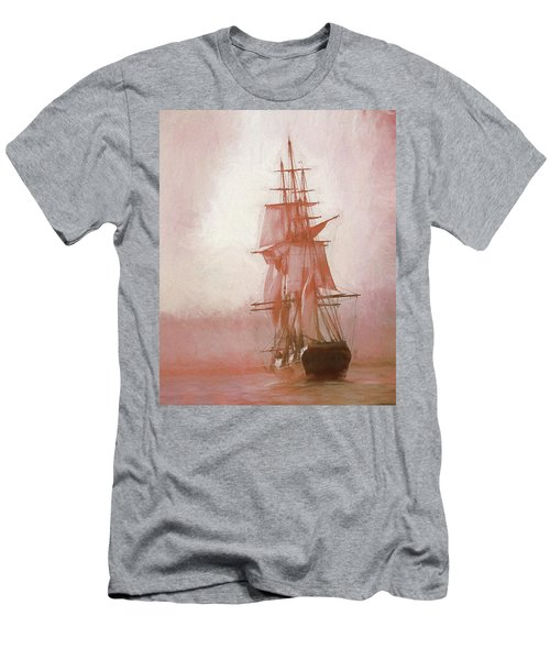 Men's T-Shirt (Athletic Fit) featuring the photograph Heading To Salem From The Sea by Jeff Folger