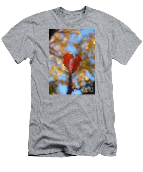 Men's T-Shirt (Slim Fit) featuring the photograph Heart Amongst Tree Top by Debra Thompson