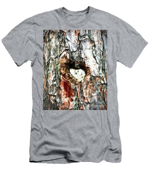 Men's T-Shirt (Athletic Fit) featuring the photograph Heart In The Tree by Kerri Farley