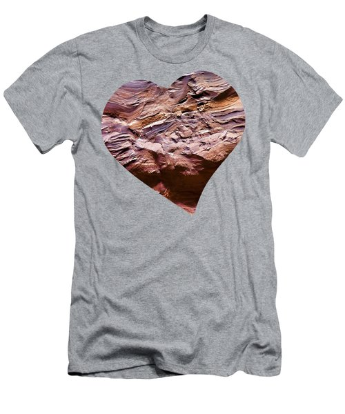 Heart Shape Stone Art Men's T-Shirt (Athletic Fit)