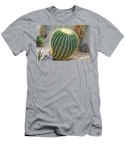Men's T-Shirt (Athletic Fit) featuring the photograph Hedgehog Cactus by James Fannin